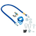 Dormont 1650BPQR48 SnapFast® 48 inch Gas Connector Kit with Restraining Cable - 1/2 inch Diameter