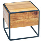 Cal-Mil 3562-7-99 Madera Reclaimed Wood Industrial Square Riser - 8 inch x 8 inch x 7 1/2 inch