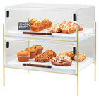 Cal-Mil 3706-1813-46 Mid-Century 19 1/2 inch x 13 1/2 inch x 18 inch Pastry Case with Brass Frame