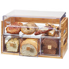 Cal-Mil 3624-60 Bamboo 2 Tier Bread Display Case - 20 1/8