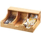 Cal-Mil 3613-3-99 Madera 3 Section Reclaimed Wood Condiment Organizer - 13 3/4 inch x 10 inch x 5 1/4 inch