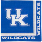 Creative Converting 324857 University of Kentucky 2-Ply 1/4 Fold Luncheon Napkin - 240/Case