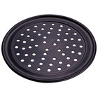 American Metalcraft PHCTP7 7 inch Perforated Hard Coat Anodized Aluminum Wide Rim Pizza Pan