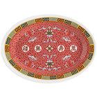 GET M-4010-L Dynasty Longevity 16 1/4 inch x 12 inch Oval Platter - 12/Case