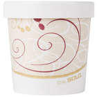 Dart Solo KH12A-J8000 Symphony Print 12 oz. Double-Wall Poly Paper Soup / Hot Food Cup with Vented Paper Lid - 250/Case