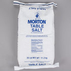 Morton 25 lb. Bulk Non-Iodized Table Salt