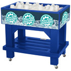 IRP Blue Texas Icer Jr. 3501513 Insulated Ice Bin / Merchandiser with Shelf and Drain 36 inch x 24 inch 88 Qt.