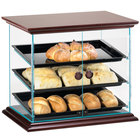 Cal-Mil 815-52 Westport Three Tier Wood Trim Display Case with Front Doors - 21 inch x 16 3/4 inch x 18 1/4 inch