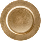 Tabletop Classics by Walco TRG-6651 13 inch Gold Round Plastic Charger Plate