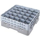 Cambro 25S900151 Camrack 9 3/8 inch High Customizable Soft Gray 25 Compartment Glass Rack