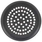 American Metalcraft SPHC2009 9 inch x 1/2 inch Super Perforated Hard Coat Anodized Aluminum Tapered / Nesting Pizza Pan