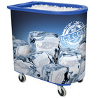IRP Blue Server Elite Deepcore 5073 Portable Insulated Ice Bin / Beverage Cooler / Merchandiser with Cash Drawer and Tray 100 Qt.