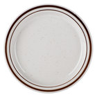 Brown Speckle Narrow Rim 6 5/8 inch China Plate   - 36/Case