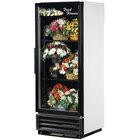 True GDM-12FC-LD White Glass Door Floral Case - 12 Cu. Ft.