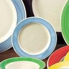 CAC R-3-BLU Rainbow 12 oz. Blue Rolled Edge Stoneware Pasta / Soup Bowl - 24/Case