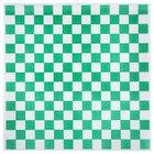 Choice 15 inch x 15 inch Green Check Deli Sandwich Wrap Paper - 1000/Pack