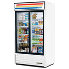 True GDM-37-LD White Refrigerated Sliding Glass Door Merchandiser with LED Lighting