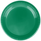 Creative Converting 28112021 9 inch Emerald Green Plastic Plate - 20/Pack