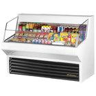 "True THAC-60 60"" White Refrigerated Horizontal Air Curtain Merchandiser - 14.8 Cu. Ft."