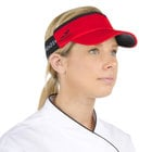 Red Headsweats Customizable 7703-203 CoolMax Chef Visor