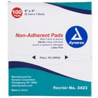 Medique 64233 Medi-First 2 inch x 3 inch Non-Adherent Absorbent Sterile Pad - 100/Box