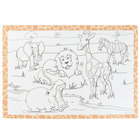 Hoffmaster 310690 10 inch x 14 inch Kids Jungle Fun Double Sided Interactive Placemat - 1000/Case