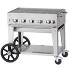 Crown Verity MCB-36 Liquid Propane Portable Outdoor BBQ Grill / Charbroiler