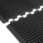 Cactus Mat 4420-CEWB VIP Duralok 3' 2 inch x 5' 1 inch Black End Interlocking Anti-Fatigue Anti-Slip Floor Mat with Beveled Edge - 3/4 inch Thick