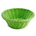 GET WB-1501-G 9 1/2 inch x 3 1/2 inch Designer Polyweave Green Round Basket - 12/Case