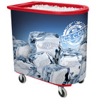 Red Server Elite Deepcore 5073 Portable Insulated Ice Bin / Beverage Cooler / Merchandiser with Cash Drawer and Tray 100 Qt.