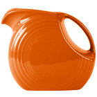 Homer Laughlin 484325 Fiesta Tangerine 2.1 Qt. Large Disc Pitcher - 2 / Case