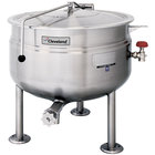 Cleveland KDL-80-SH Short Series 80 Gallon Stationary Full Steam Jacketed Direct Steam Kettle