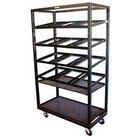 Winholt DR-2143 White 43 inch x 21 inch Merchandiser Rack with Four Slanted Shelves and Flat Bottom Shelf