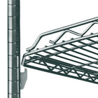 Metro HDM2448Q-DSG qwikSLOT Drop Mat Smoked Glass Wire Shelf - 24 inch x 48 inch