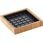 Cal-Mil 330-6-60 6 inch Bamboo Square Drip Tray