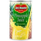Del Monte 46 oz. Canned Pineapple Juice   - 12/Case