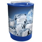 Blue Iceberg 500 60 Qt. Insulated Portable Beverage Cooler / Merchandiser with Lid, Drain, and Semicircular Design
