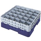 Cambro 25S1058186 Camrack 11 inch High Customizable Navy Blue 25 Compartment Glass Rack