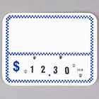Write On Deli Tag Wheel with Insert - Blue Checkered - 25/Pack