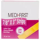 Medique 61450 Medi-First 7/8 inch x 3 inch Woven Bandage Strip   - 50/Box