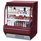Turbo Air TCDD-48-2-H 48 inch Red Curved Glass Refrigerated Deli Case