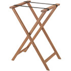 Aarco Walnut Folding Wood Tray Stand - 31