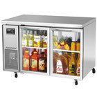 Turbo Air JUR-48-G J Series 48 inch Undercounter Refrigerator with Side Mounted Compressor and Glass Doors - 11 Cu. Ft.
