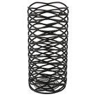 Sterno 85244 2 3/4 inch x 6 inch Black Wire Diamond Metal Lamp Base