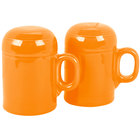 Homer Laughlin 756325 Fiesta Tangerine Rangetop Salt and Pepper Shaker Set - 4 Sets / Case