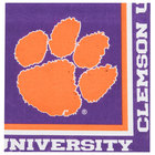 Creative Converting 664831 Clemson University 2-Ply 1/4 Fold Luncheon Napkin - 240/Case