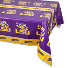 Creative Converting 720838 54 inch x 108 inch Louisiana State University Plastic Table Cover - 12/Case