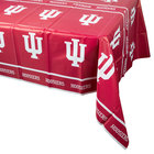 Creative Converting 724924 54 inch x 108 inch Indiana University Plastic Table Cover - 12/Case
