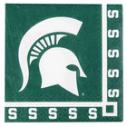 Creative Converting 654716 Michigan State University 2-Ply Beverage Napkin - 240/Case