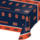 Creative Converting 318301 54 inch x 108 inch Syracuse University Plastic Table Cover - 12/Case